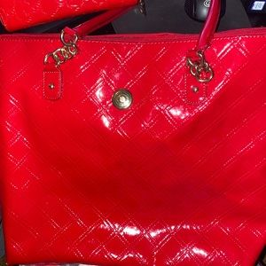 Tommy Hilfiger Red Tote Bag